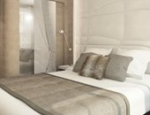 Beautiful accommodations onboard Ponant Yacht Cruises