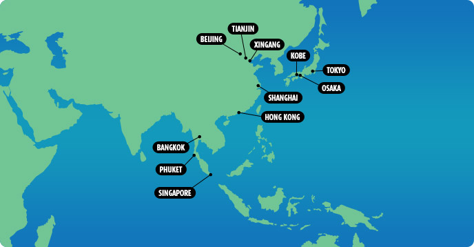 Cruises from Asia