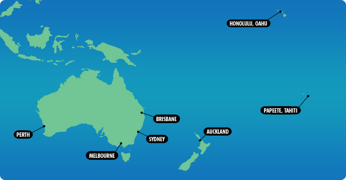 Cruises from Australia, New Zealand & the South Pacific