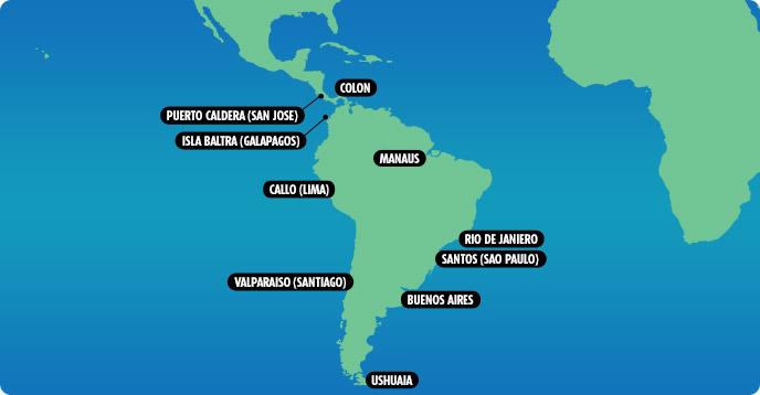 Cruises From Latin America Cruises From Mexico Cruises From Panama - Cruise to south america