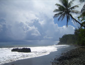 Tahiti's black-sand beaches on a South Pacific cruise