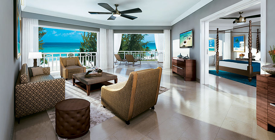 Ocean Village Beachfront One Bedroom Butler Suite with Balcony Tranquility Soaking Tub (O1B)