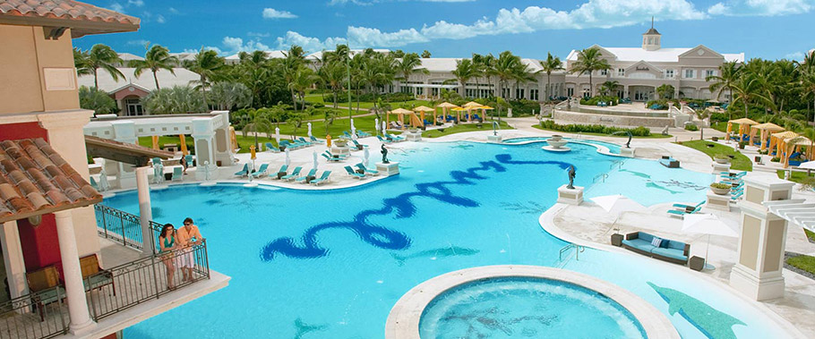 The Main Pool at Sandals Emerald Bay