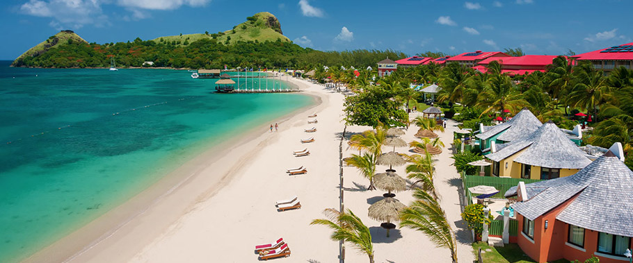 The Beach at Sandals Grande St. Lucian