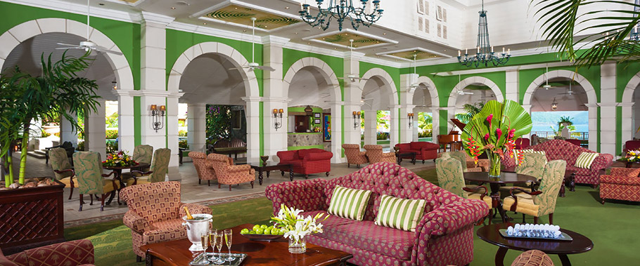 The Lobby at Sandals Grande St. Lucian