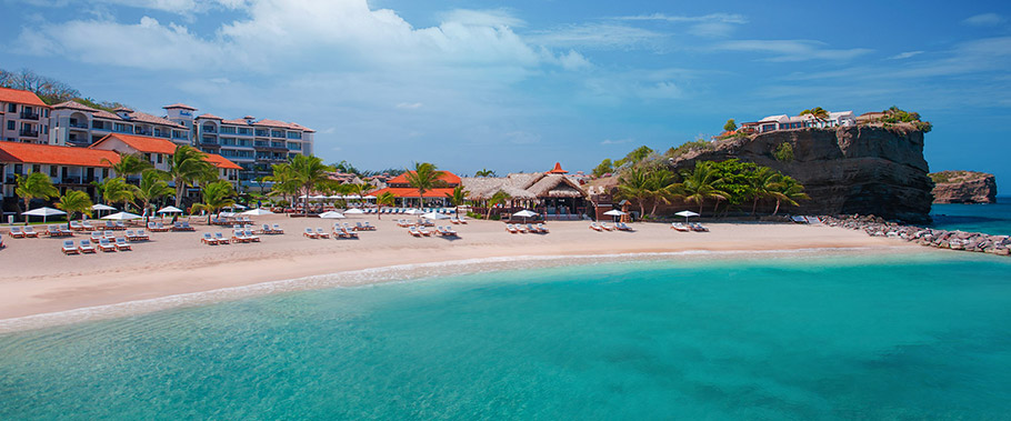 The Beach at Sandals LaSource Grenada