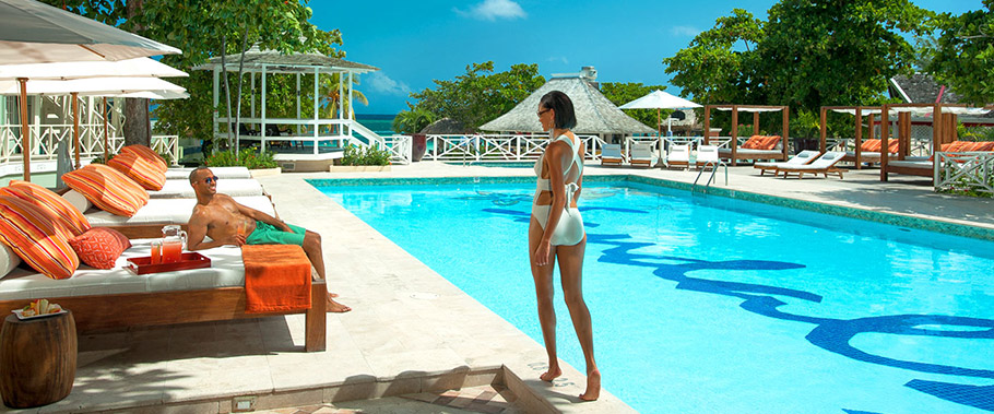 The Main Pool at Sandals Montego Bay