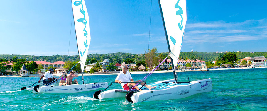Sailing at Sandals Whitehouse