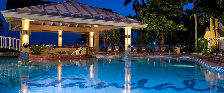 The Main Pool at Sandals Negril