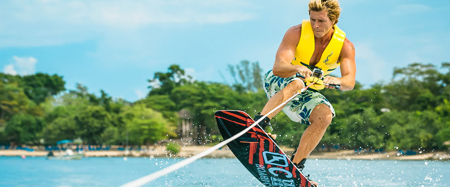 Wakeboarding at Sandals Negril