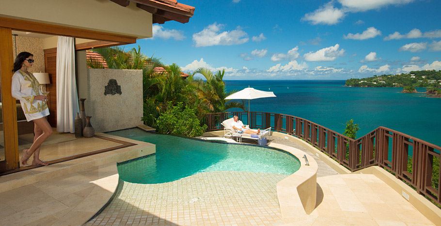 Sunset Bluff Millionaire Butler Villas Suite with Private Pool Sanctuary (SV)