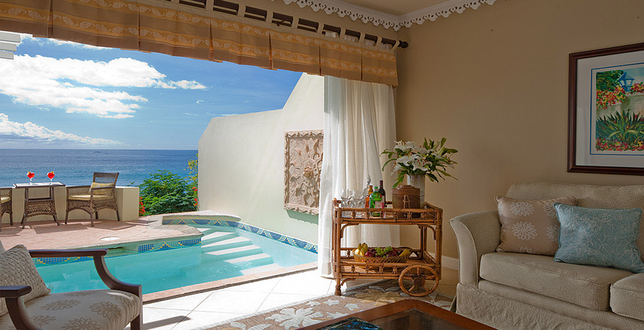 Sunset Bluff Oceanfront Two Story One Bedroom Butler Villa Suite with Private Pool (BP)