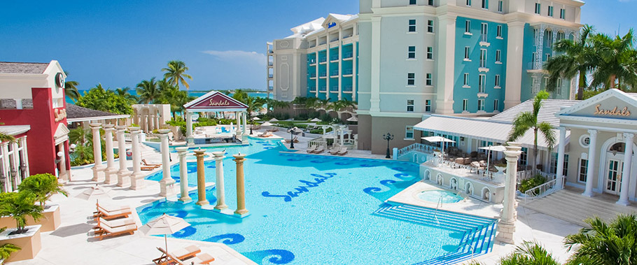 The Main Pool at Sandals Royal Bahamian