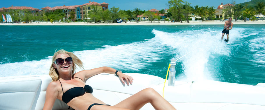 Waterskiing at Sandals Whitehouse