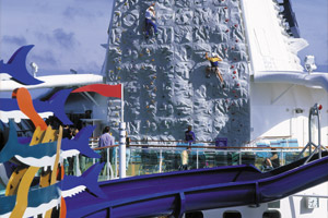 Waterslide & Rock-Climbing Wall