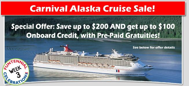 Carnival Cruise Line Alaska Cruise Sale Discount Carnival