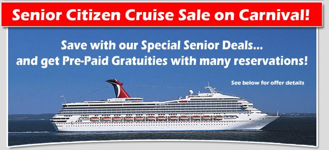 Carnival Cruise Line Senior Citizen Sale Discount