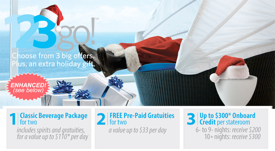 123GO! Three BIG Offers! - Celebrity Cruises Promotion