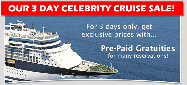 Celebrity 3 Day Cruise Sale