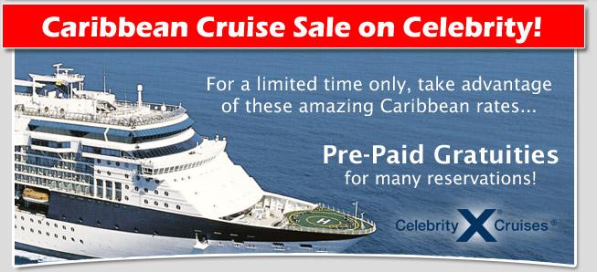 Celebrity Caribbean Cruise Sale