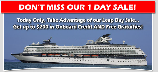 Celebrity Cruise Sale Onboard Credits And Free Gratuities