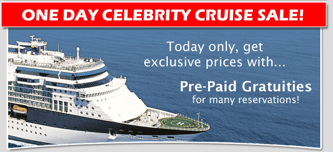 Celebrity Cruises One Day Cruise Sale Happy Hour
