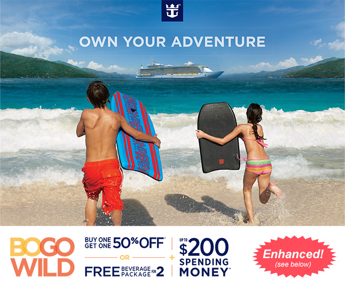 Royal Caribbean Cruise Sale - Buy One Get One 50% Off with BOGO Wild