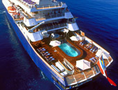 Aerial of a SeaDream Cruise Ship