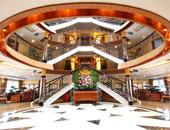 The Lobby of a Viking River Cruise Ship